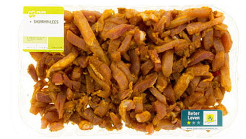 PLUS roept shoarmavlees terug om salmonella