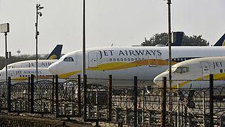 Toestel Jet Airways blijft aan de grond door financiële problemen