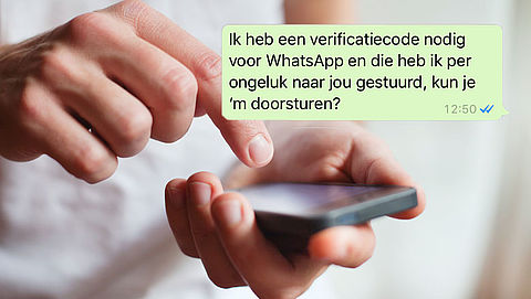 Pas op: Vals WhatsApp-bericht over verificatiecode}