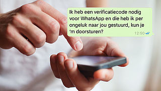Pas op: Vals WhatsApp-bericht over verificatiecode
