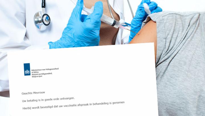 Let op voor valse uitnodiging voor vaccinatie van RIVM