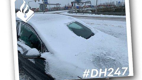 Politie waarschuwt: hoge boete bij niet-sneeuwvrije auto