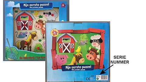 Veiligheidswaarschuwing: kinderpuzzel Kruidvat