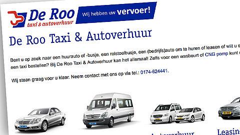 Faillissement voor taxibedrijf De Roo
