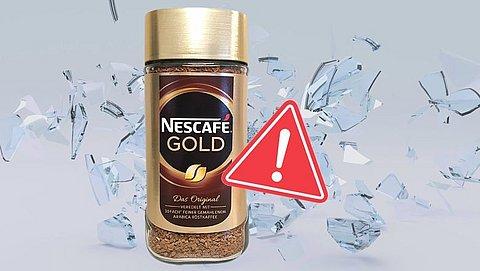 Glas- en kunststofsplinters aangetroffen in oploskoffie Nescafé Gold-namaak