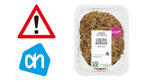 Albert Heijn waarschuwt voor verkeerd geëtiketteerde linzenburger