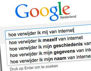 Google vragen om te worden vergeten