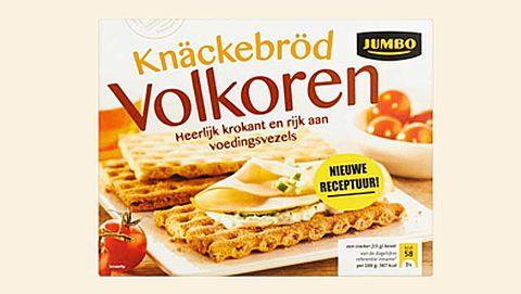 'Volkoren knäckebröd van Jumbo bestaat voor groot deel uit witte bloem'
