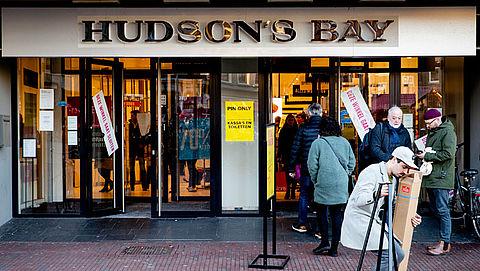 Bijna alle winkels Hudson's Bay gesloten na uitverkoop
