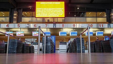 Vluchten op Brussels Airport geannuleerd door staking}