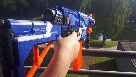 NERF geweer kan schade aan ogen veroorzaken