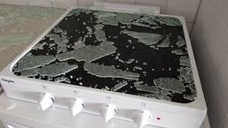 Glazen afdekplaat van Pelgrim-kookplaat ontploft spontaan