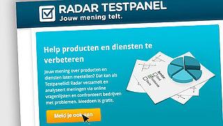 Aanmelden Radar Testpanel