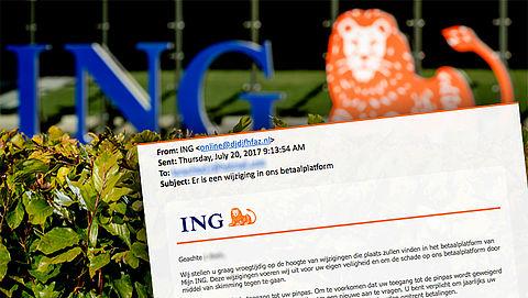Pas op: gepersonaliseerde mail ING over wijziging in het betaalplatform is nep}