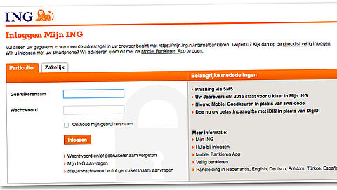 Klanten ING ondervinden problemen met online bankieren}