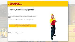 Phishingmail van 'DHL': 'Helaas, we hebben je gemist'