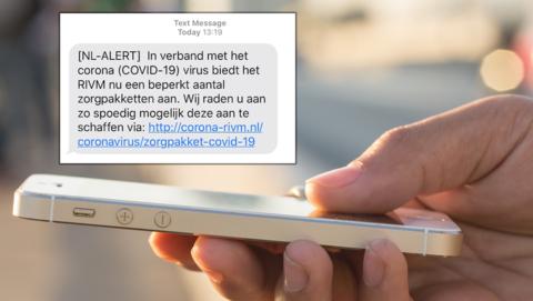 RIVM waarschuwt voor nep-sms
