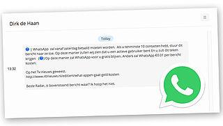 Pas op: 'WhatsApp wordt betaald'-nieuws is een hoax