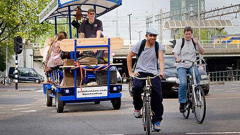 Bierfiets definitief verboden in delen Amsterdam