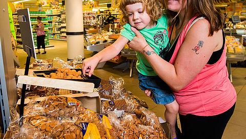 'Pas ook koek- en snoepverpakkingen huismerken aan'