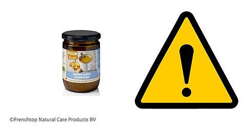 Terugroepactie: belangrijke veiligheidswaarschuwing voor pompoensoep met verboden stof