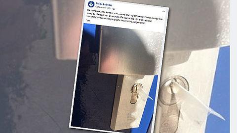 Let op: politie waarschuwt voor stukjes plastic in slot
