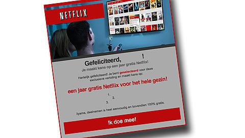 Let op: valse winactie 'Netflix'