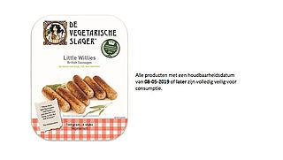 Worstjes van de Vegetarische Slager bevatten mogelijk plastic