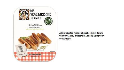 Worstjes van de Vegetarische Slager bevatten mogelijk plastic}