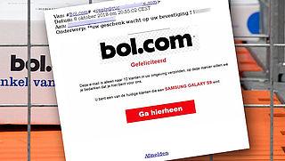 Pas op: e-mail over winactie van bol.com is nep!