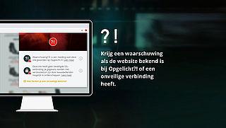 Browserplug-in van Opgelicht?! waarschuwt meteen bij foute sites en webshops