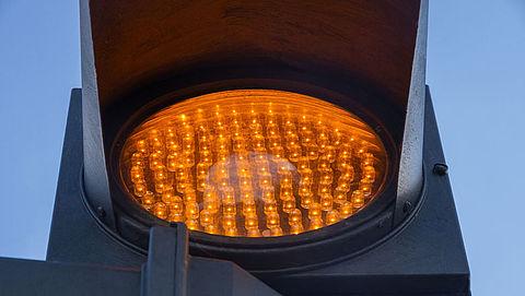 Verkeerslichten langer op oranje
