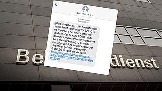 Pas op voor valse sms van 'Belastingdienst' over openstaande schuld
