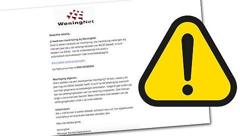 Phishingcampagne actief uit naam van WoningNet