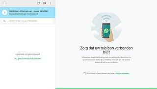 Nieuwe versie WhatsApp Web in de maak