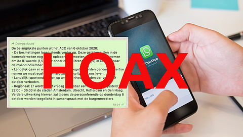 WhatsApp-bericht ontvangen over nieuwe maatregelen? Let op, dit is nep