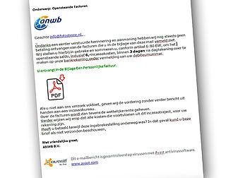 ANWB waarschuwt voor phishingmail