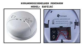 Koolmonoxidemelder Pentagon is gevaarlijk