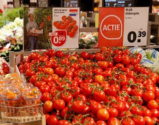 Paginagrote advertenties voor 'boycot-tomaten'