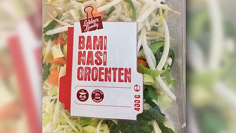 Pas op: verkeerd label op nasi- en bamigroenten Superunie}