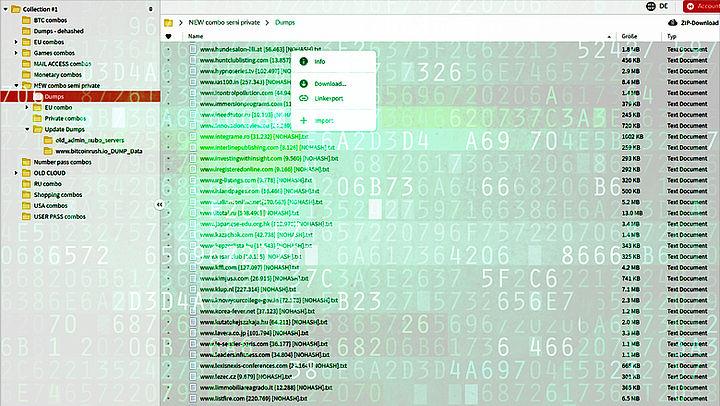 773 miljoen e-mailadressen en 21 miljoen wachtwoorden openbaar online