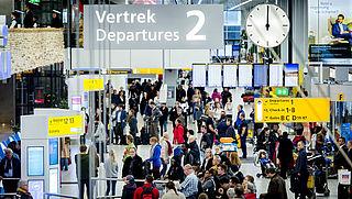 Toename aantal reizigers Schiphol