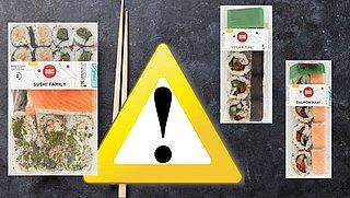 Terugroepactie: stukjes glas in diverse verpakkingen Sushi Begaru en Sushi Ran