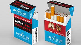 Rotte tanden op je sigarettenpakje