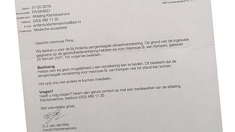 Uitvaartverzekeraar weigert zieke Bo (9). Mag dat?}