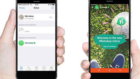 Nieuwe functie WhatsApp: status doorgeven met foto's en video's