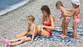 Actie tegen zonverbranding kinderhuid