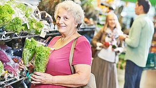 Ondersteuning van ouderen voor het boodschappen doen