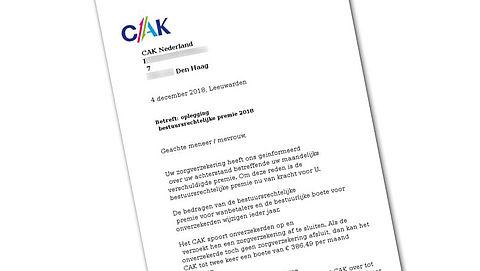 Valse mail over achterstand zorgpremie van het 'CAK'
