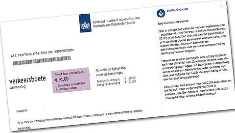 Let op: valse brief over verkeersboete!
